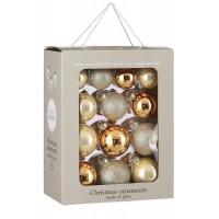 Набор стеклянных шаров 26 шт Брызги шампанского
