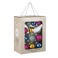 Набор стеклянных шаров 26 шт Мультиколор