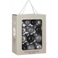 Набор стеклянных шаров 26 шт Звездная ночь