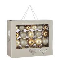 Набор стеклянных шаров 42 шт Брызги шампанского