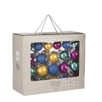 Набор стеклянных шаров 42 шт Мультиколор