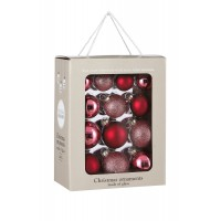 Набор стеклянных шаров 26 шт Ягодный смузи