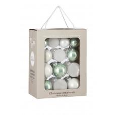 Набор стеклянных шаров 26 шт Мятная свежесть