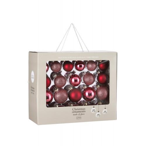 Набор стеклянных шаров 42 шт Ягодный смузи