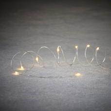 Светодиодная гирлянда Роса 30 огней Теплый белый 3 м