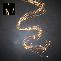 Светодиодная гирлянда Хвост 125 огней Теплый белый 1 м