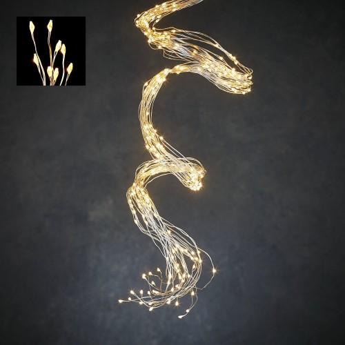 Светодиодная гирлянда Хвост 520 огней Теплый белый свет серебряный провод 2 м