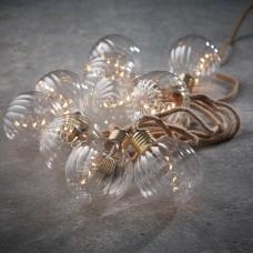 Светодиодная гирлянда Ретро на бечевке 10 круглых ламп Теплый белый 3,15 м