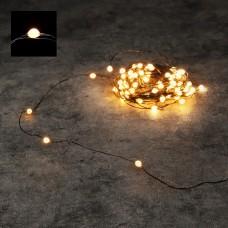 Светодиодная гирлянда Роса 100 огней Теплый свет черный провод 10 м