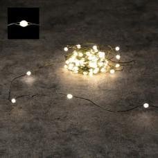 Светодиодная гирлянда Роса 150 огней Теплый белый 15 м