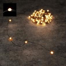 Светодиодная гирлянда Роса 150 огней Теплый свет черный провод 15 м